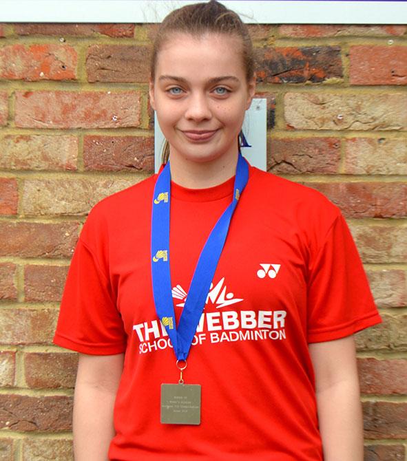 Lisa Curtin_Silver Medal_U15 European Badminton Championships