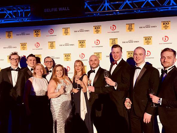 Oakman Inns team at Best Companies ceremony