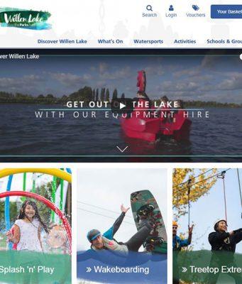 New website for Willen Lake