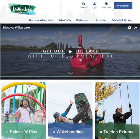 New website for Willen Lake