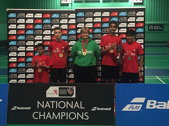 Webber School National Badminton Champions