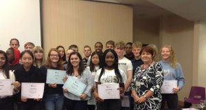 Award winners from St Pauls Catholic School