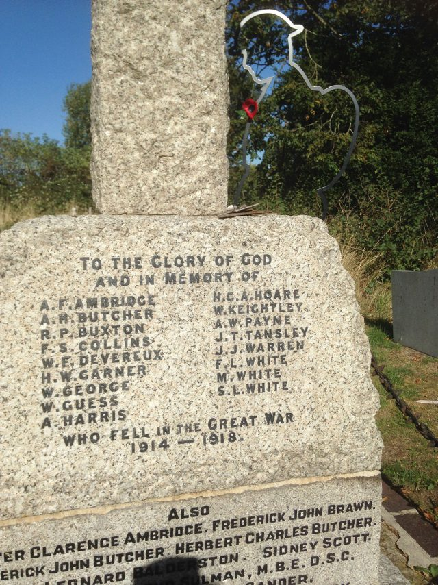 Soldier by War Memorial Wavendon