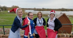 Willen Hospice nurses dress for Santa Dash