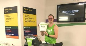 Gemma runs for Milton Keynes University Hospital