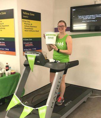 Gemma runs for Milton Keynes University Hospital