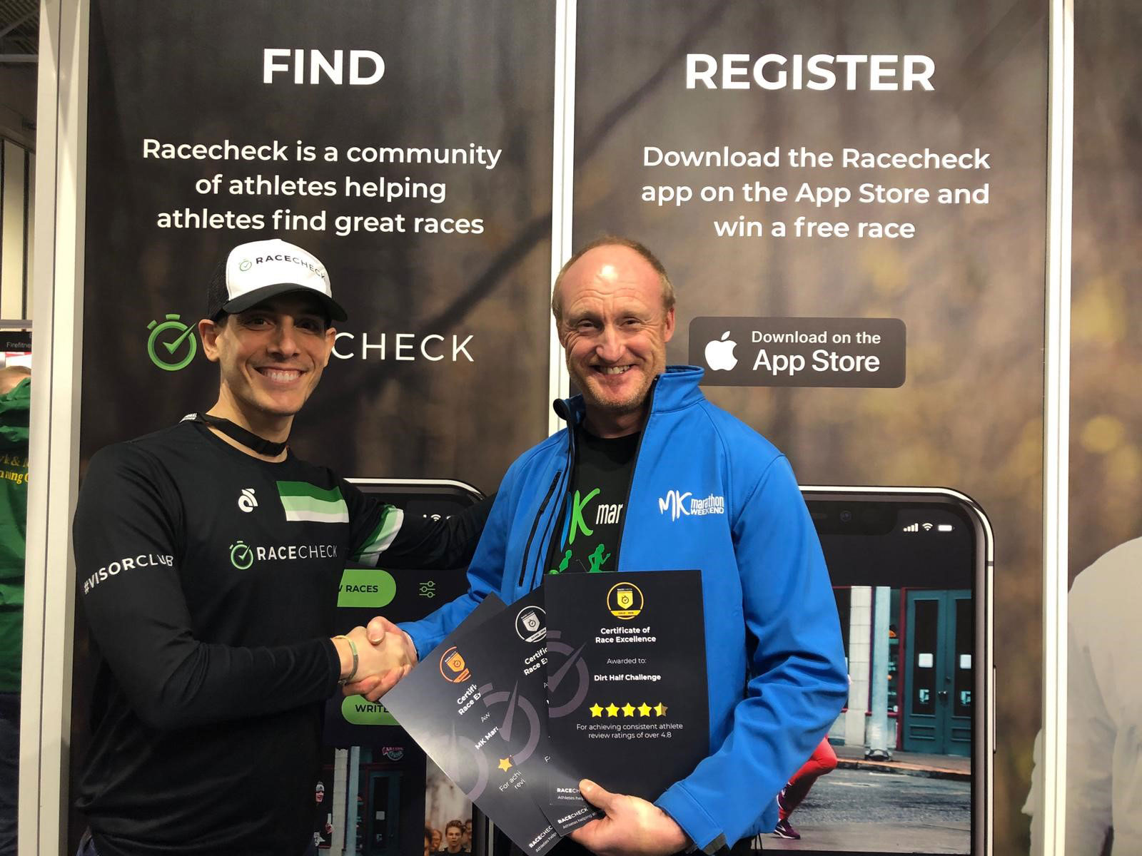 Racecheck award for MK Marathon