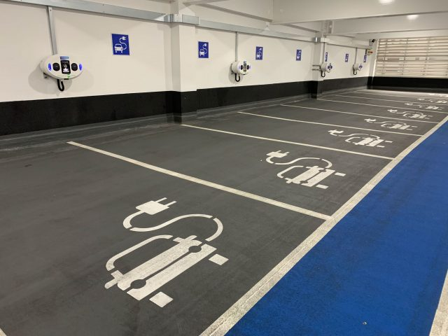 car charging points at into MK