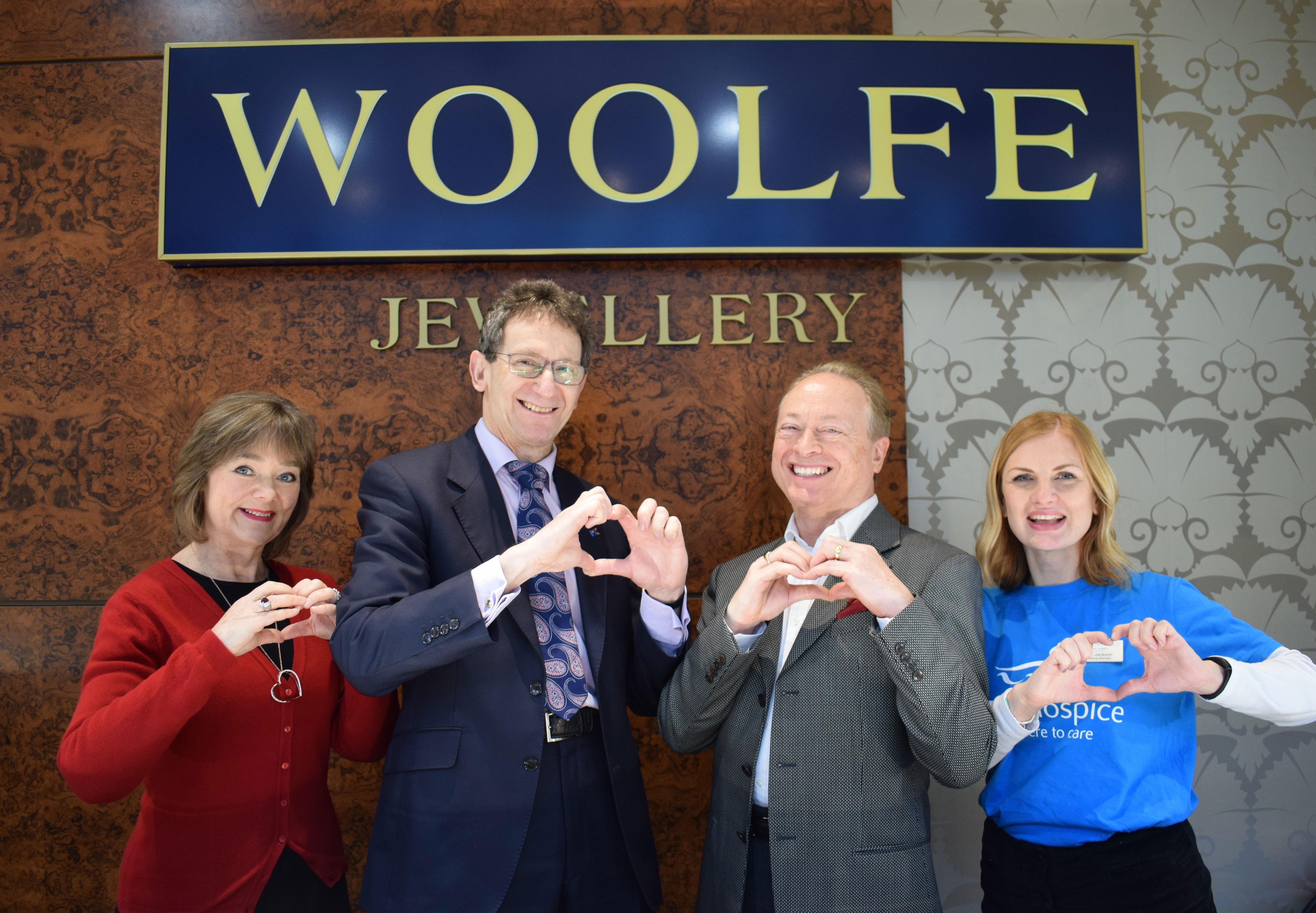 Woolfe Jewellery and DoodleDoo support Willen Hospice