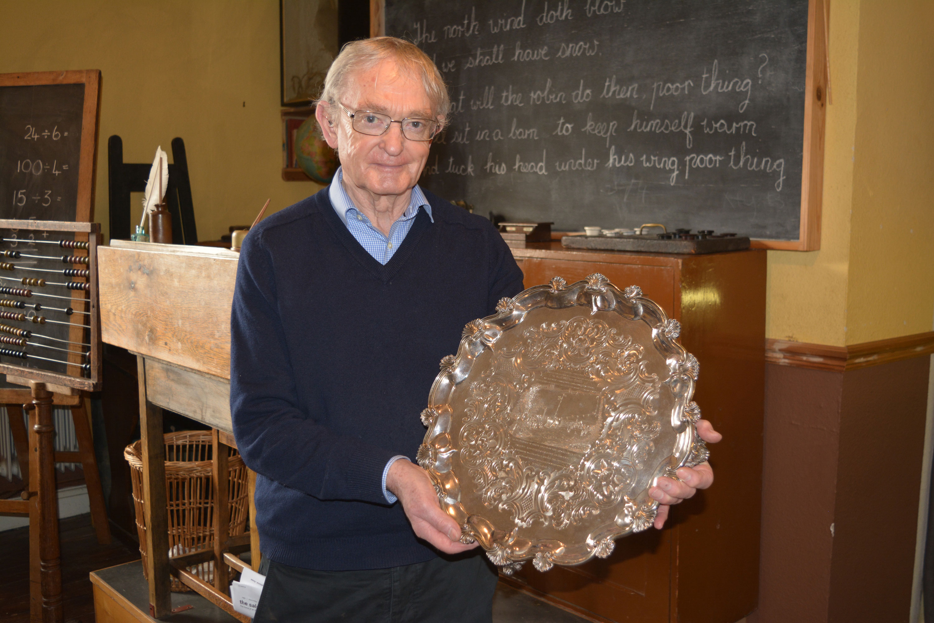 Bill Griffiths with the silver salver