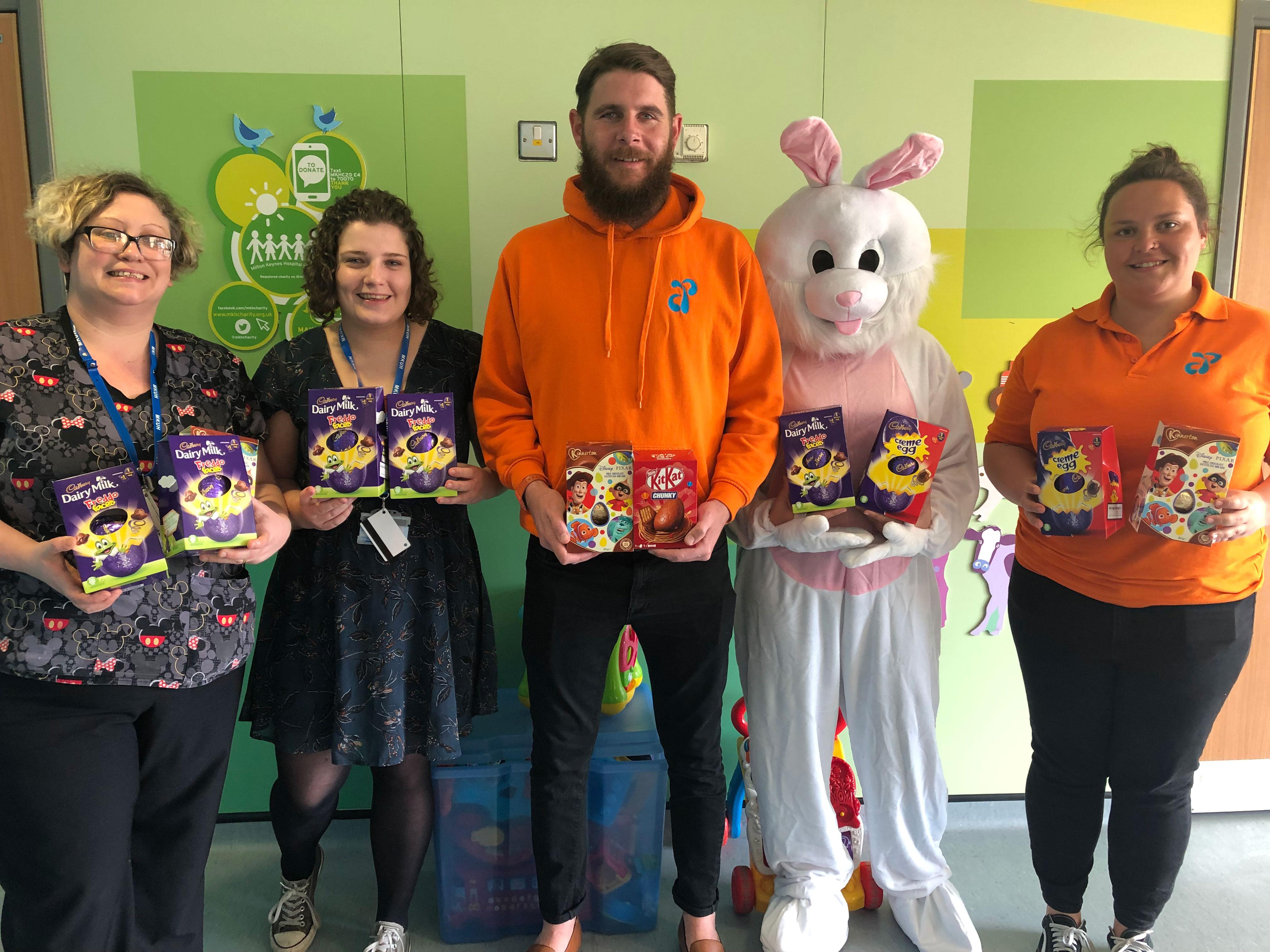Aqua Parcs Easter Bunny at MK Hospital
