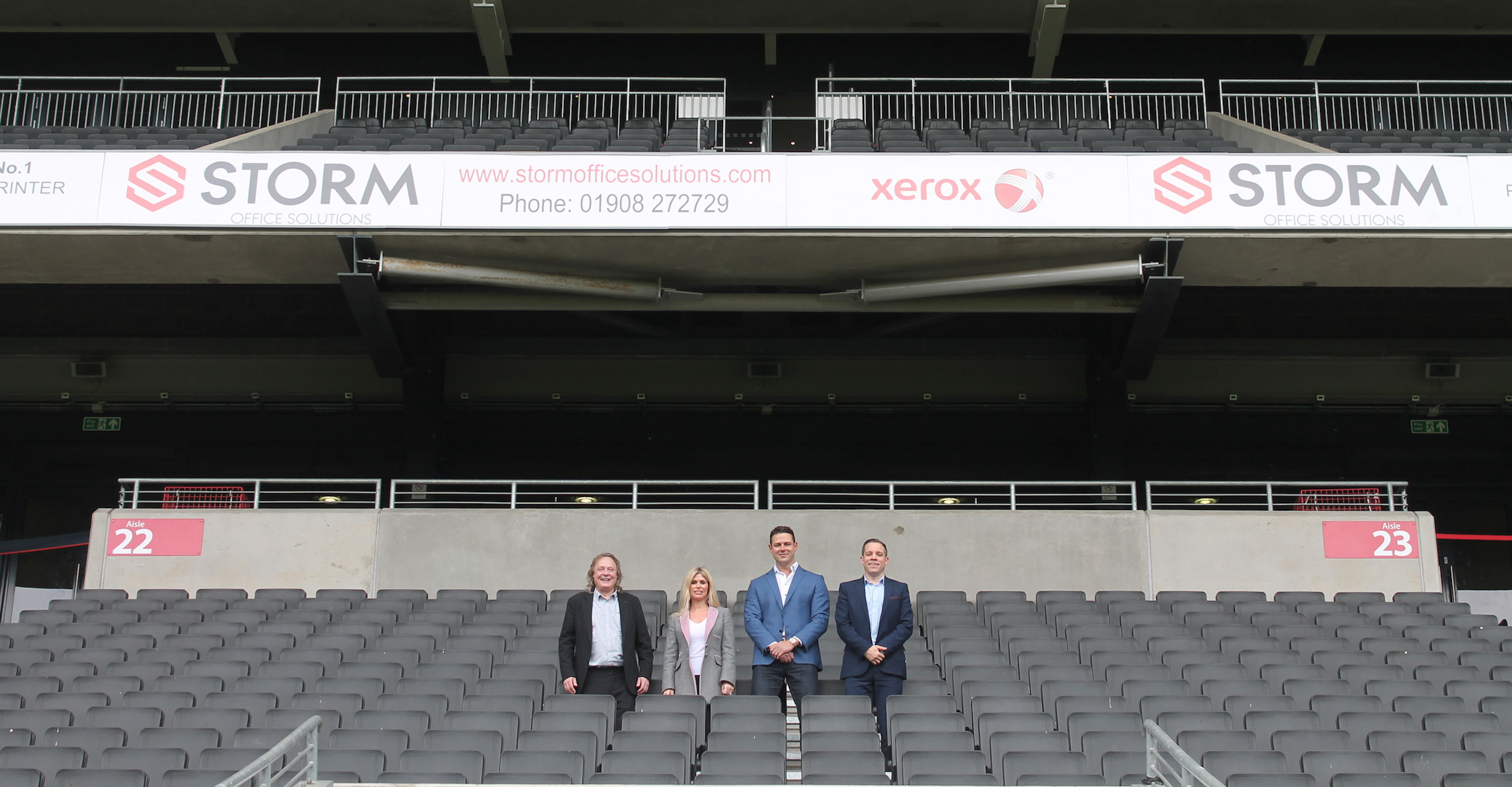 Storm Office Solutions with Mk Dons Chairman Pete Winkleman