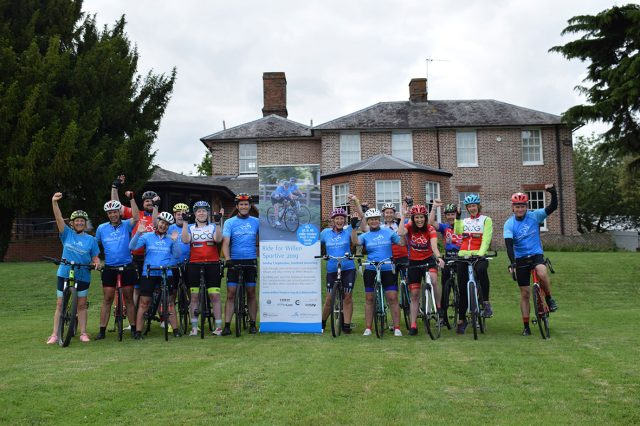 Broughton Cycling Group support Willen Hospice