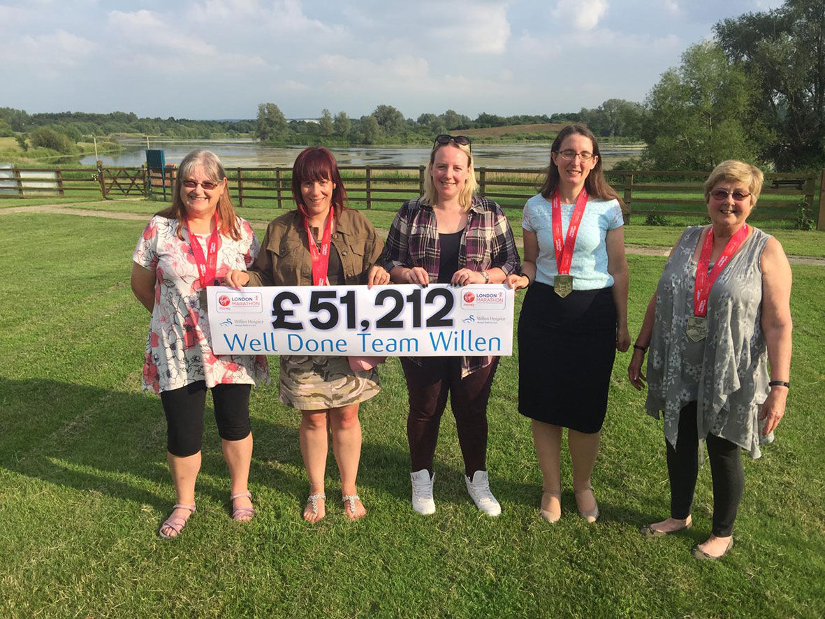 Willen Hospice London Marathon runners raise over 51k