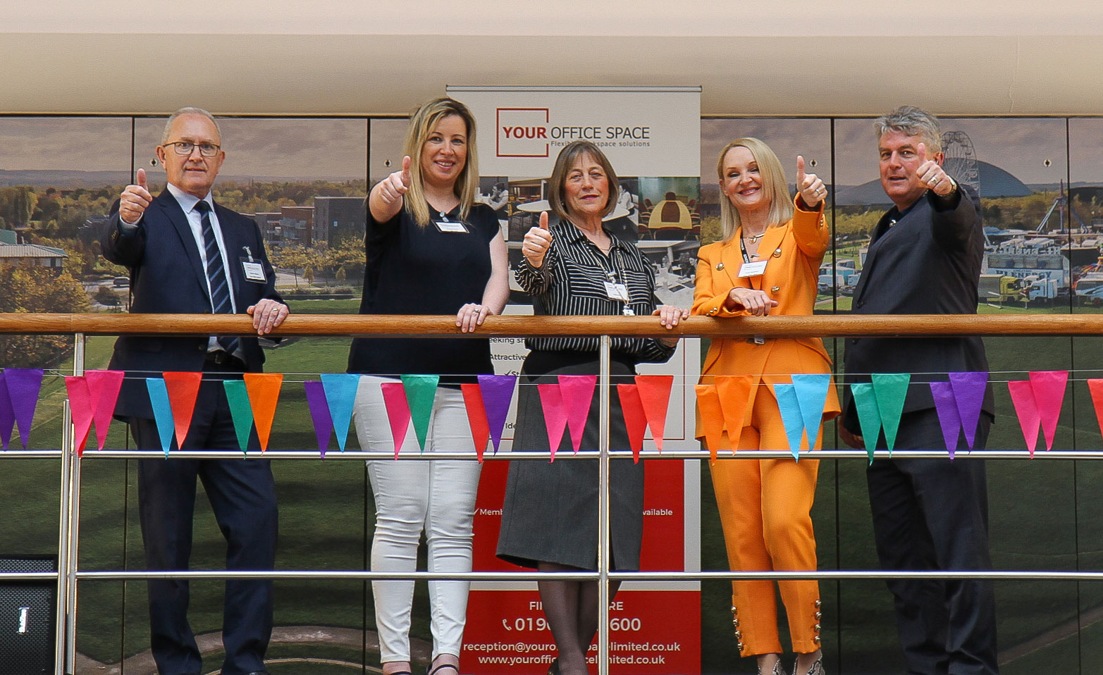 thumbs up for the launch of your Office Space