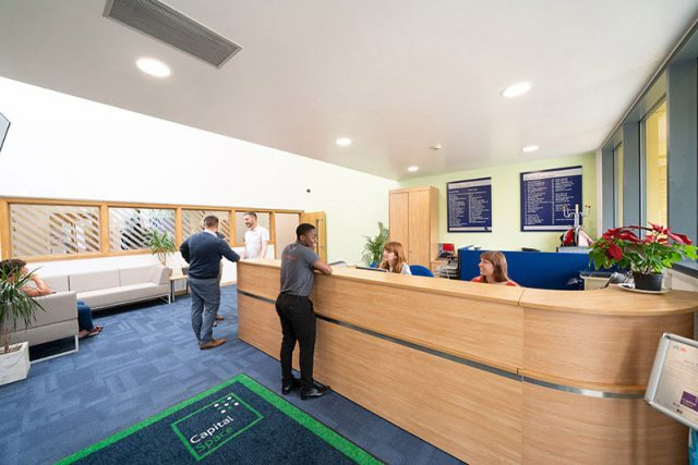 new reception area at Milton Keynes Business Centre
