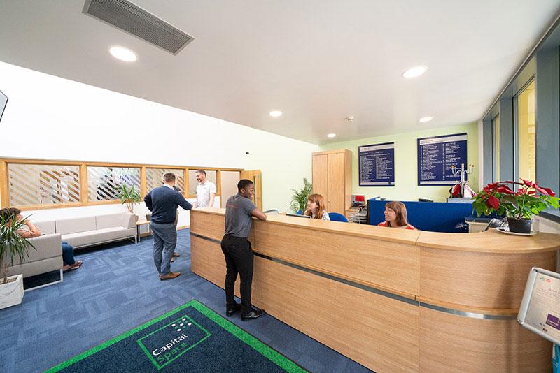 new reception area at Milton Keynes Business Centre