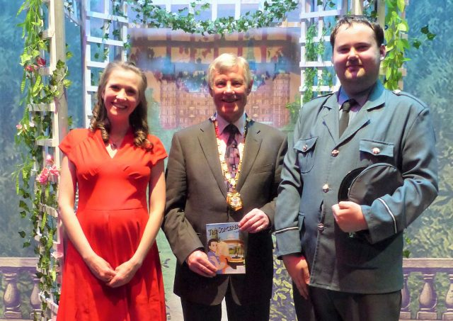Mayor of Milton Keynes, Councillor Sam Crooks, joined the cast of 'The Sorcerer' at Stantonbury Theatre