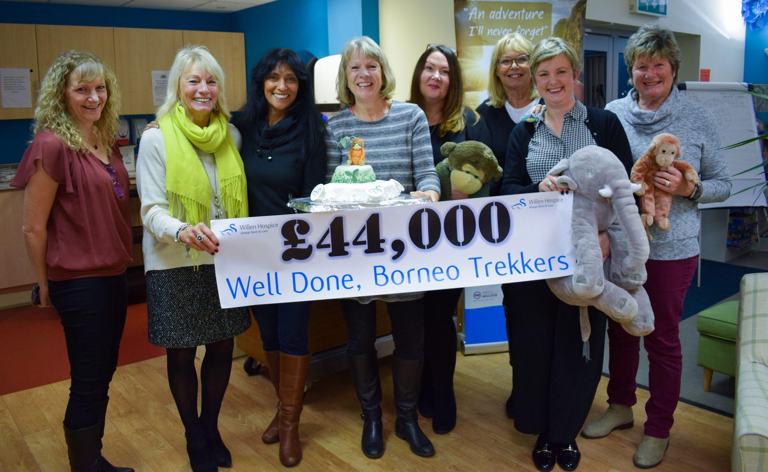 Borneo trekkers raise £44,000 for Willen Hospice