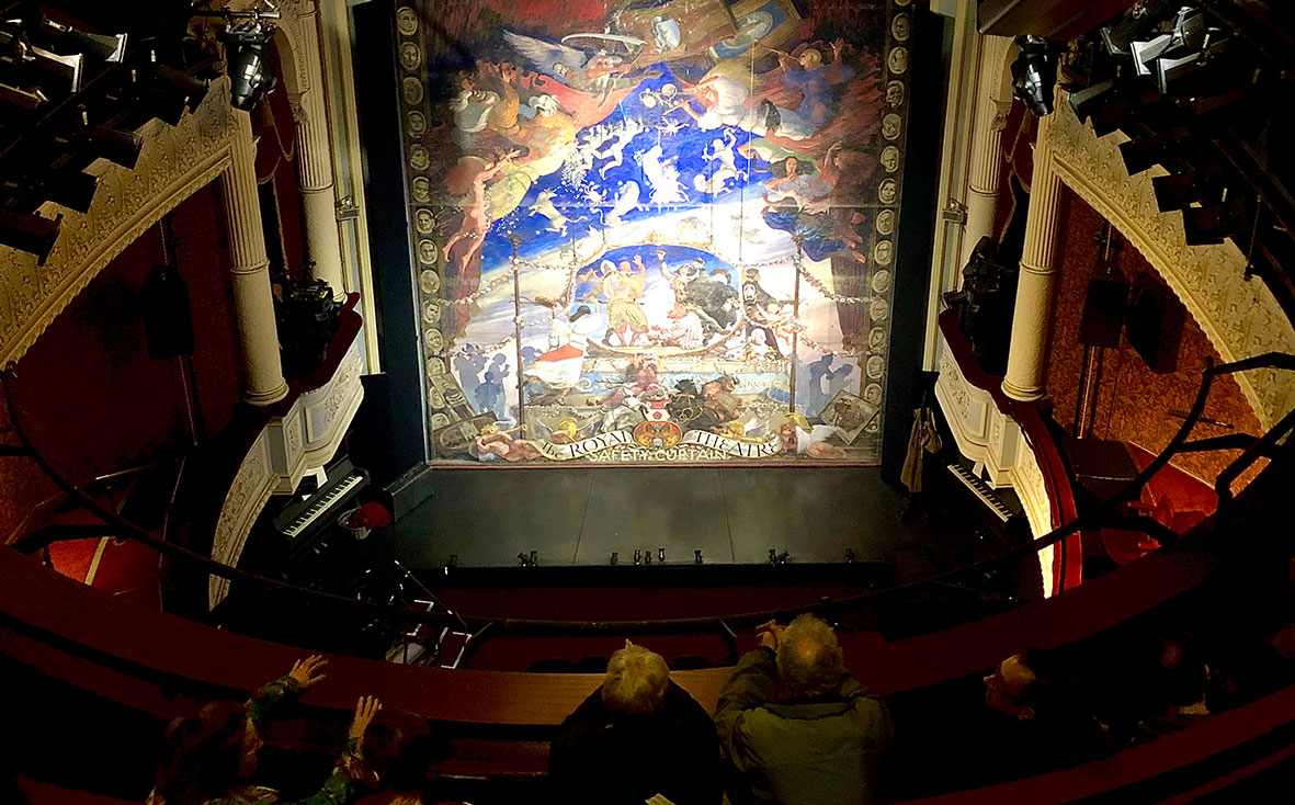 Theatre Royal's safety curtain