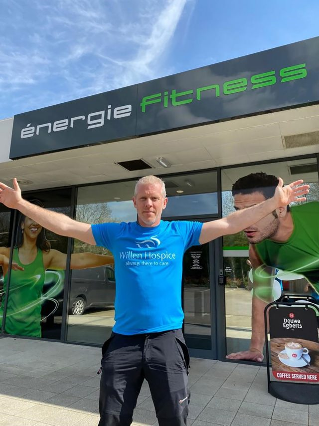 Rob Francis outside energié Fitness Milton Keynes