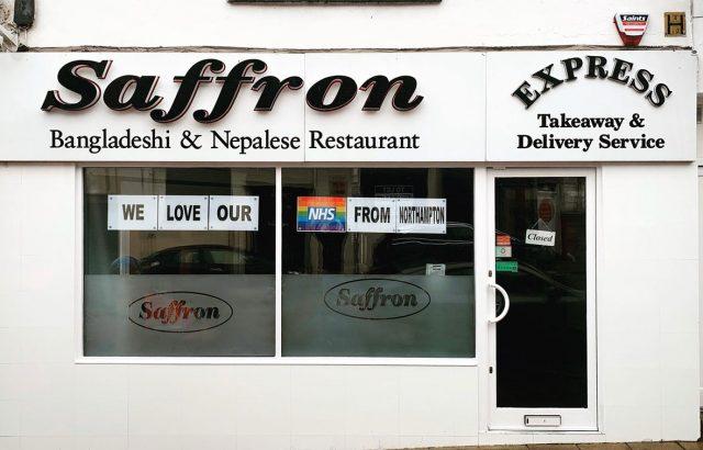 Saffron Northampton restaurant front
