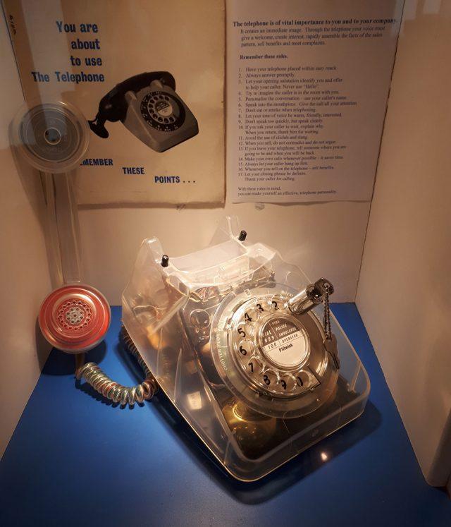Telephones lock phone at Milton Keynes Museum