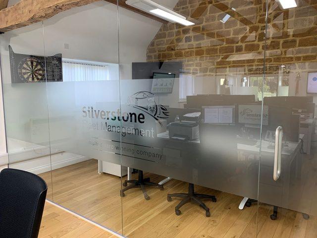 Glass partition at Silverstone Fleet Management