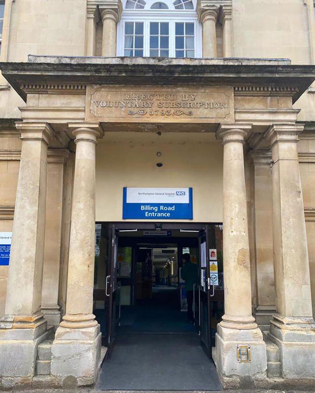 Northampton General Hospital entrance