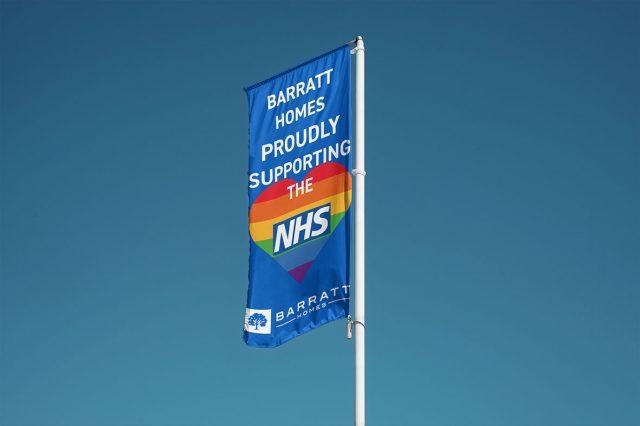 Barratt Homes flag shows support for NHS