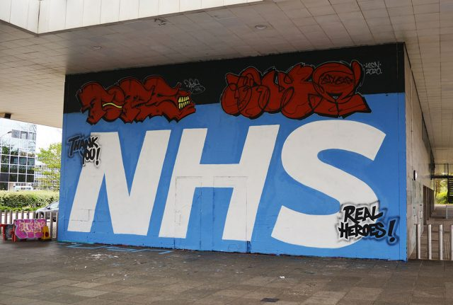 NHS Grafitti Milton Keynes