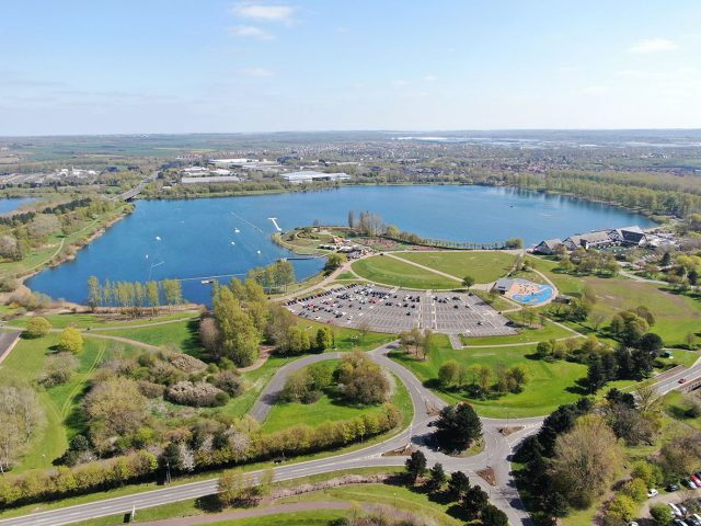 Willen Lake from the air