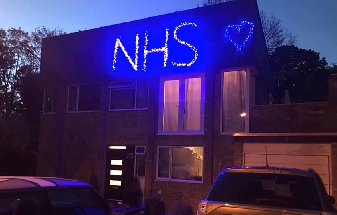 NHS in lights