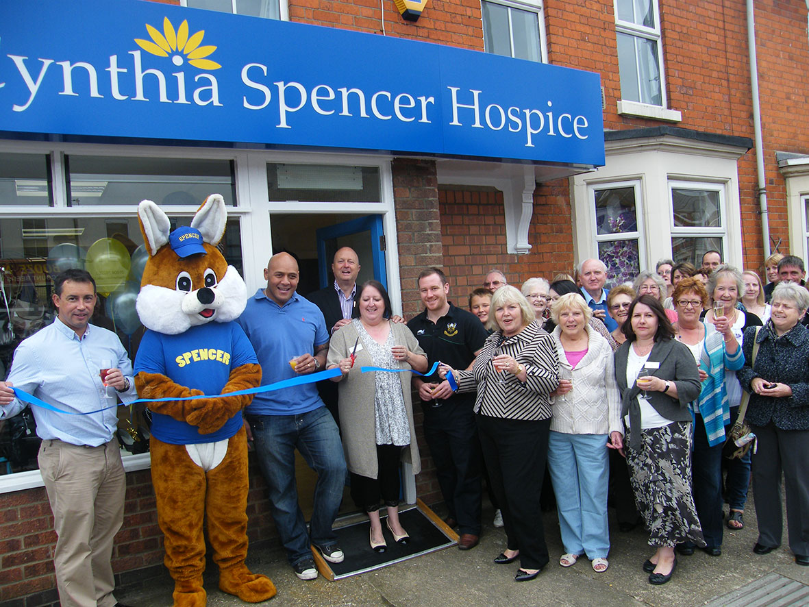 Cynthia Spencer Hospice shop on St Leonard's Road opening in 2012