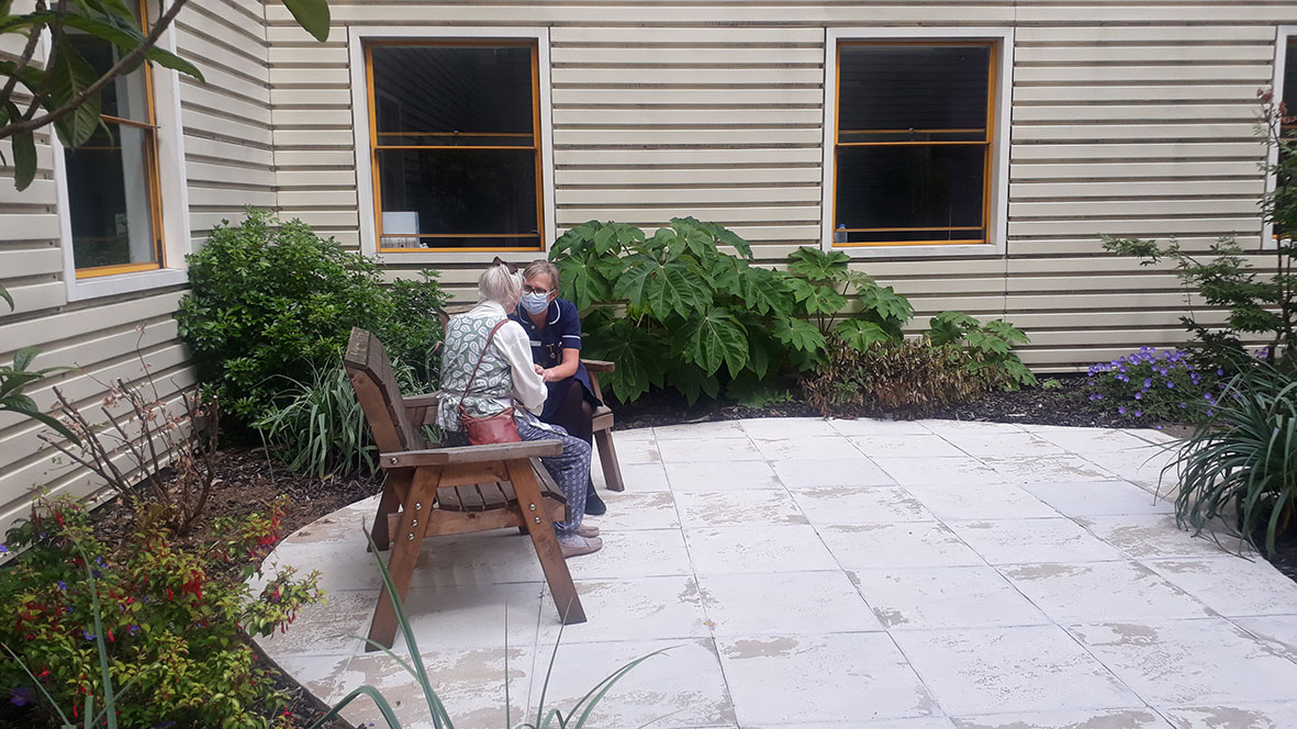 Garden at Milton Keynes Hospital, ward 3