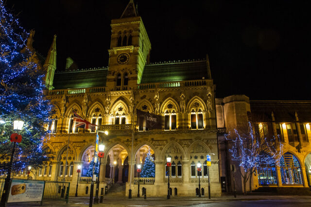 Northampton's Guildhall at Christmas