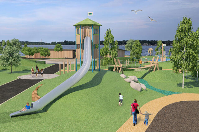 Play area at Willen Lake