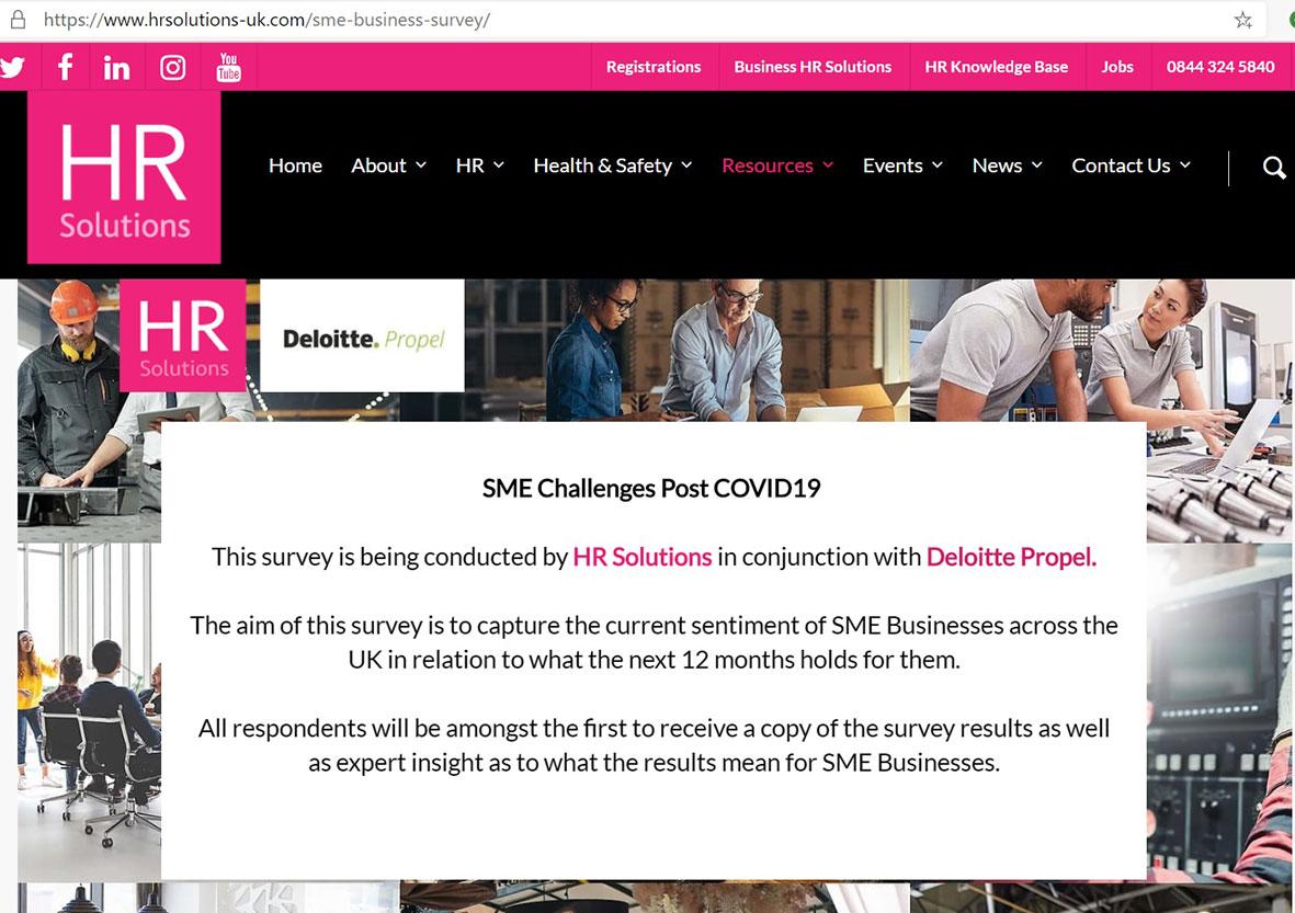SME Challenges Post Covid-19 survey