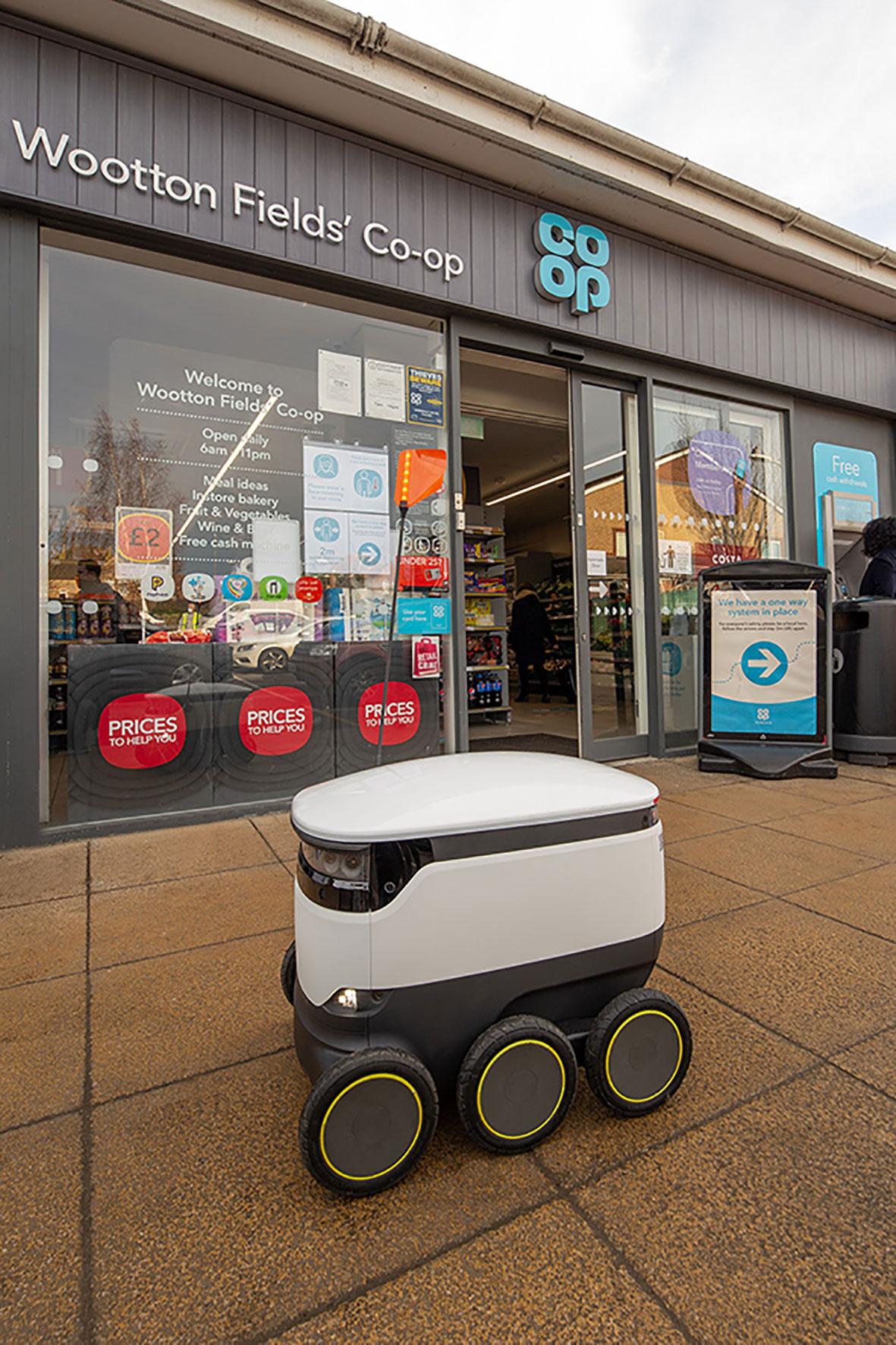 Starship robots in Northampton