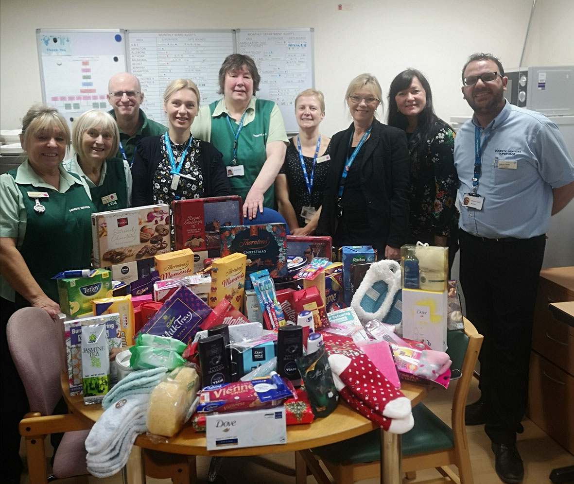 NGH Christmas donations team