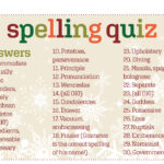 Spelling Quiz Answers