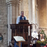 Delivering-the-sermon-on-Christmas-morning–