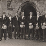 The-Gurney-brothers-at-Uncle-Michaels-wedding-in-1958-Michael-middle-right-l-Brian-second-right-and-Ted-far-right